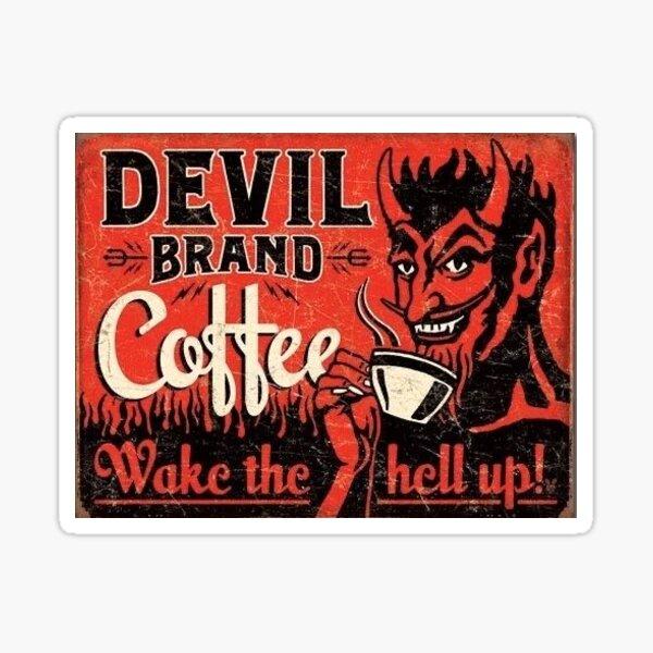 devil coffee Sticker