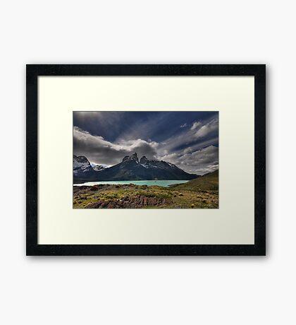 Horns and Sky Framed Print