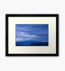 moody sky at dawn Framed Print