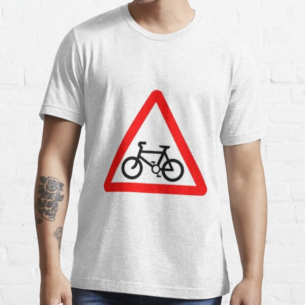 Bicycle Warning sign. Essential T-Shirt