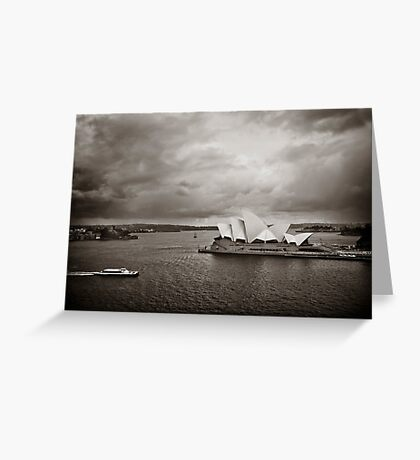 Sydney Opera House in B&W Greeting Card