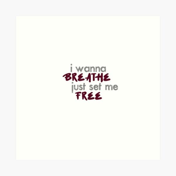 AB6IX Breath lyrics kpop song Art Print