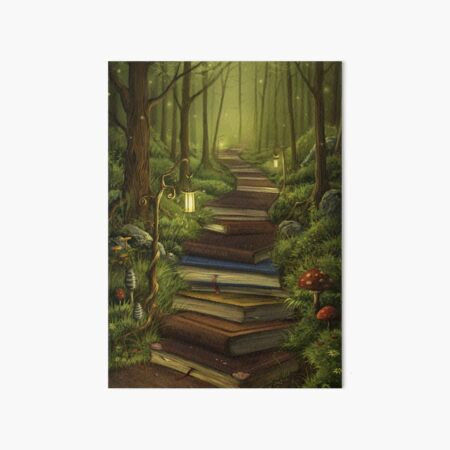 The Reader's Path Art Board Print