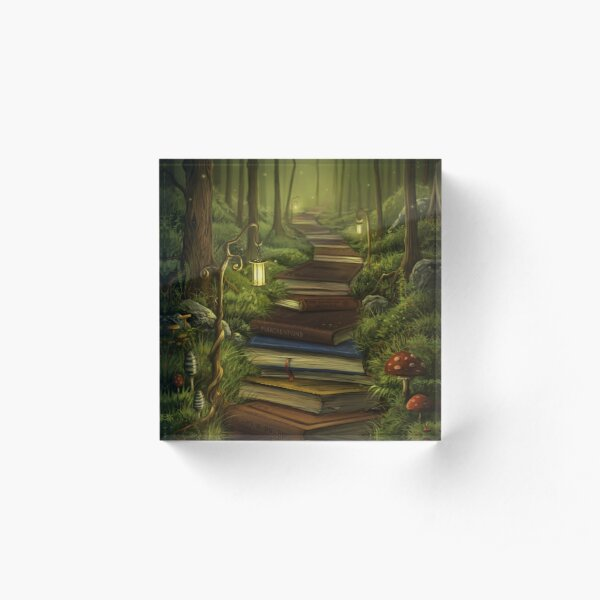 The Reader's Path Acrylic Block