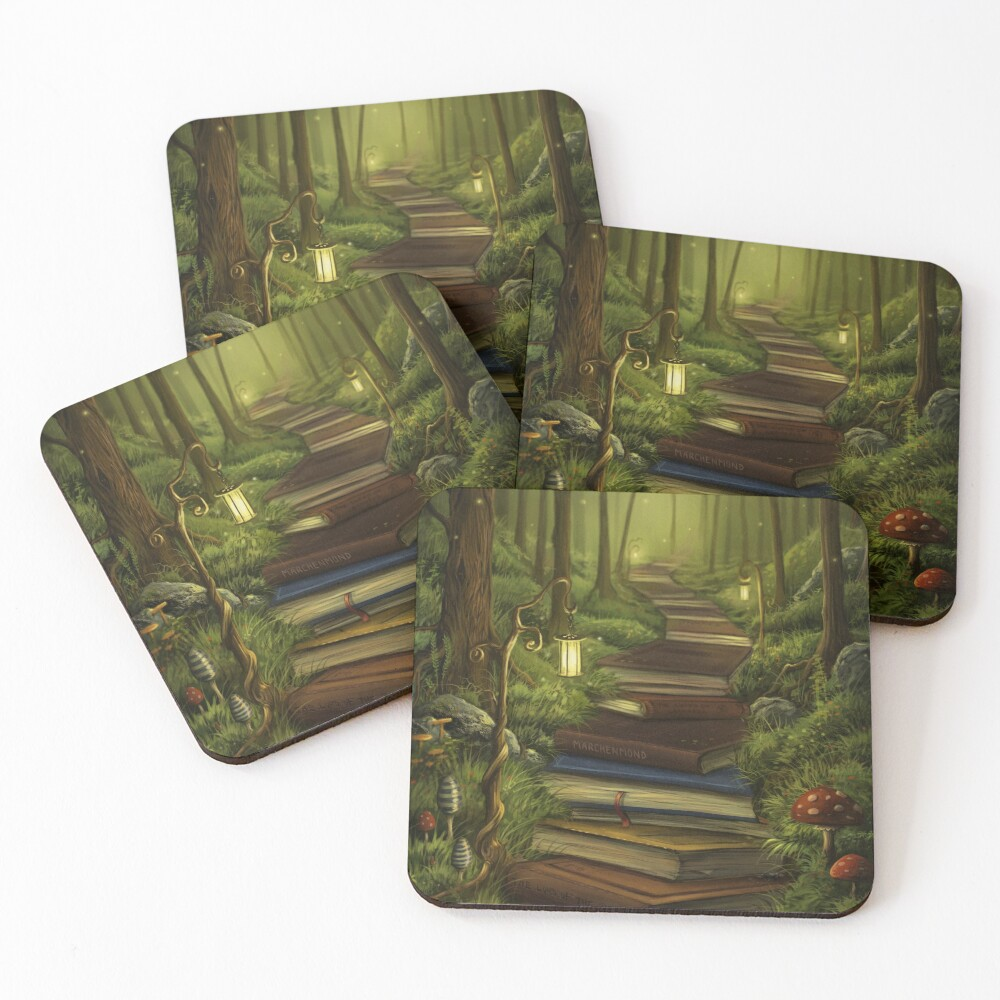 The Reader's Path Coasters (Set of 4)