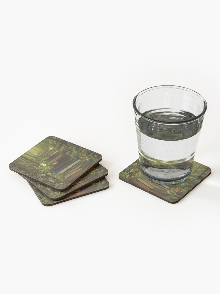 Alternate view of The Reader's Path Coasters (Set of 4)