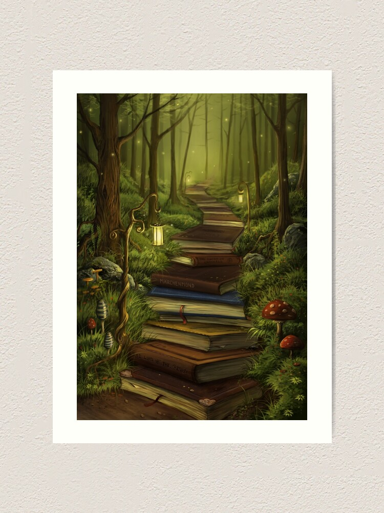 Alternate view of The Reader's Path Art Print
