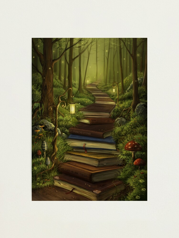 Alternate view of The Reader's Path Photographic Print