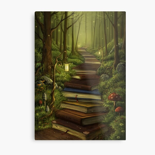 The Reader's Path Metal Print