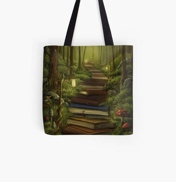 The Reader's Path Allover-Print Tote Bag