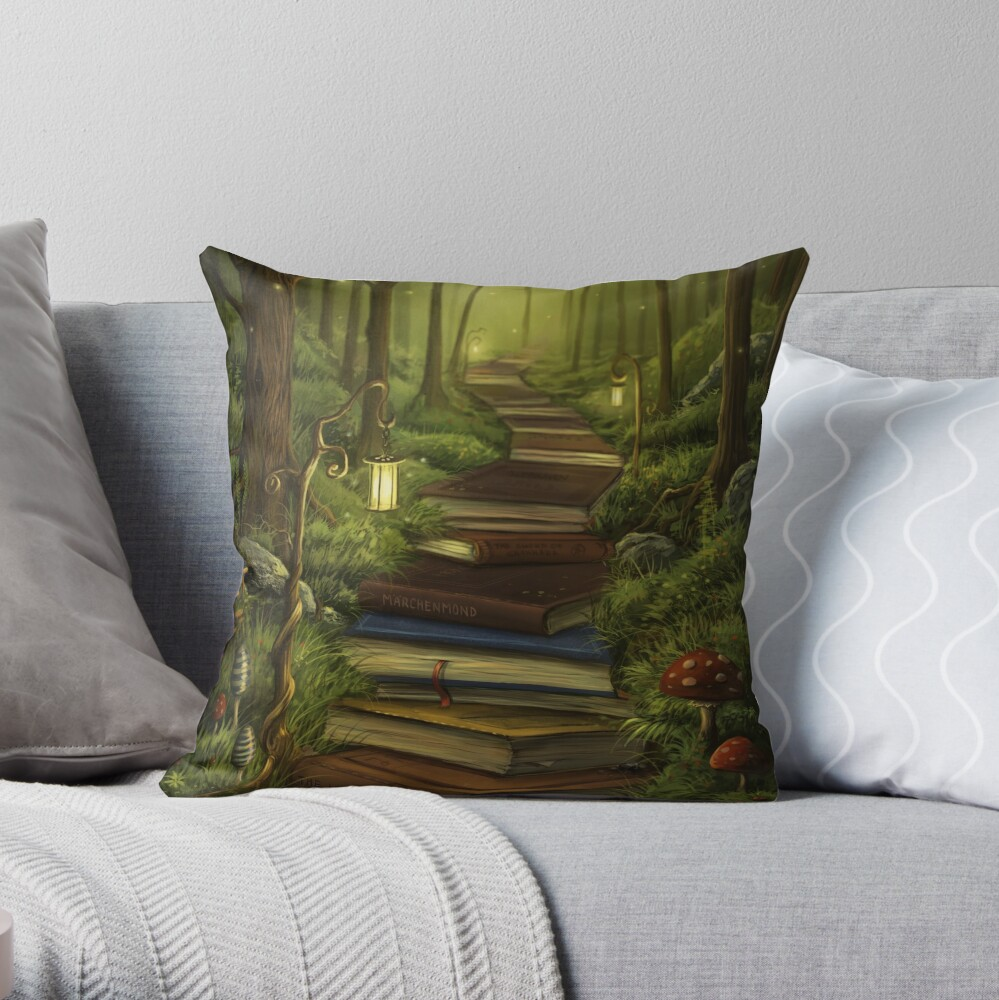The Reader's Path Throw Pillow