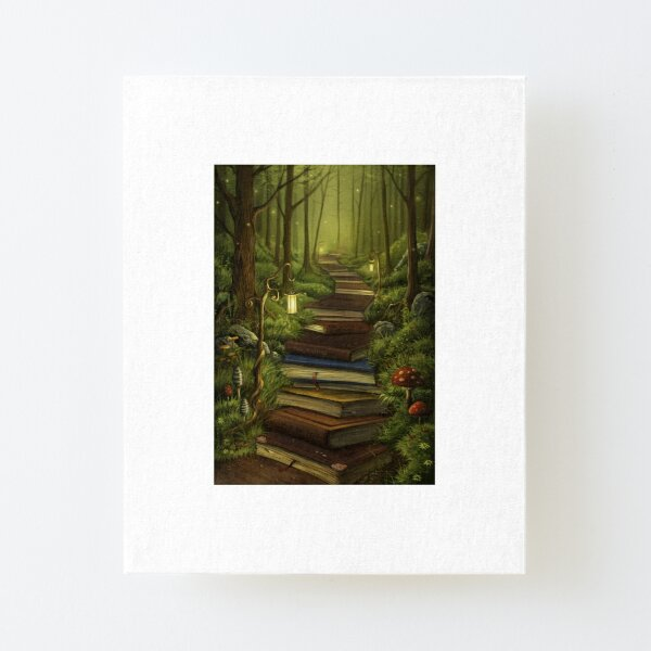 The Reader's Path Canvas Mounted Print