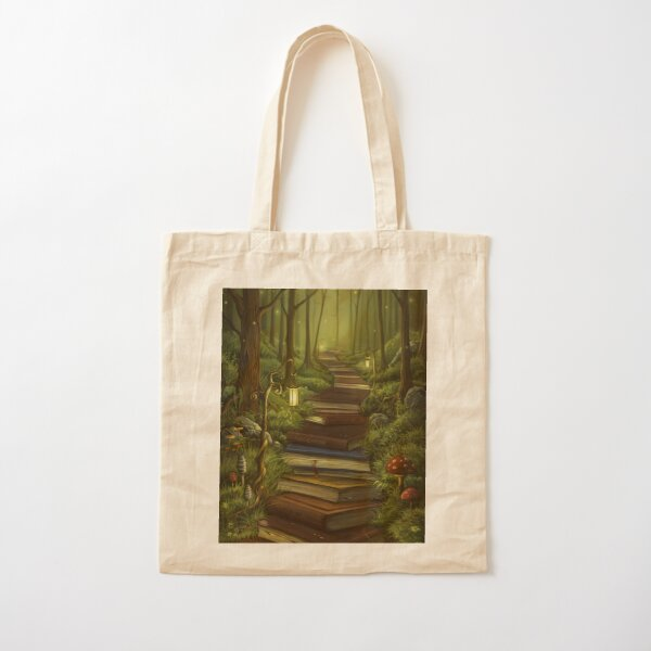 The Reader's Path Cotton Tote Bag