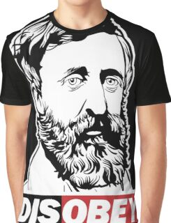 "Henry David Thoreau ""Disobey""  Graphic T-Shirt"