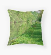 Barge Tow Path Throw Pillow