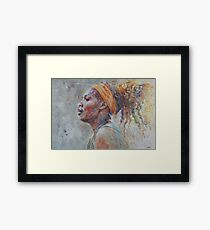 Serena Williams - Portrait 3 Framed Print