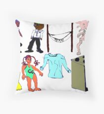 Odds and Ends Four Throw Pillow