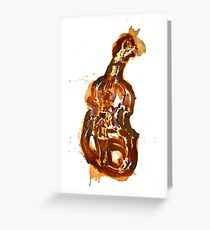 Violin/rust painting Greeting Card