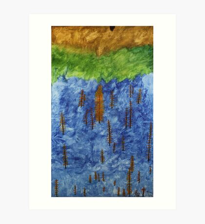 Ash Tree's in a Tossed World Art Print