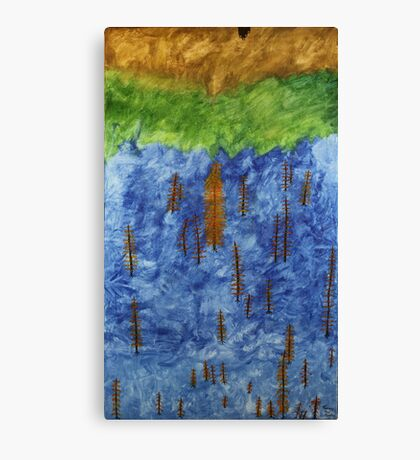 Ash Tree's in a Tossed World Canvas Print