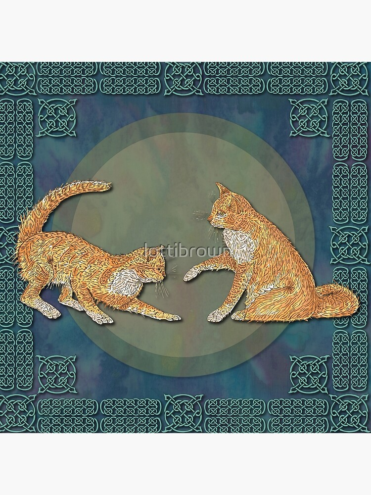 Celtic Cats - Ginger Cats by lottibrown