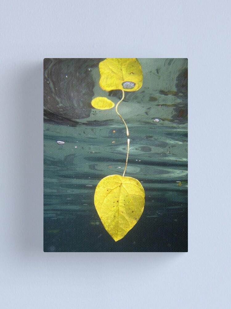 Alternate view of Leaf over Reef II Canvas Print