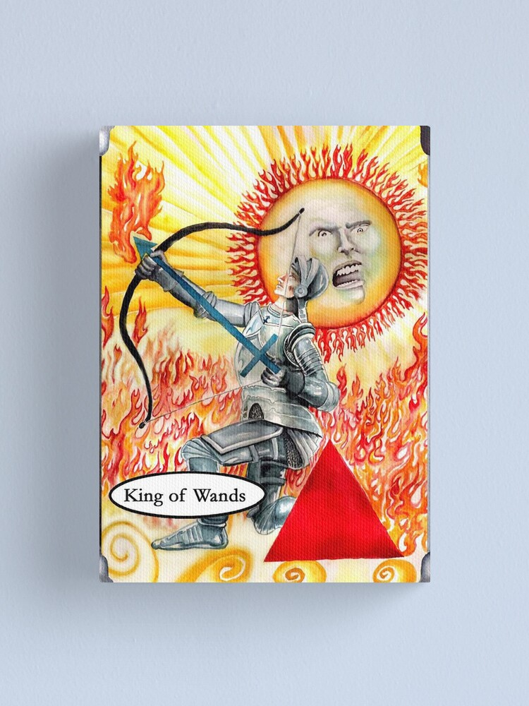 Alternate view of Knight of Wands Canvas Print