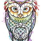 Watercolour Owl Design by Paula Stirland