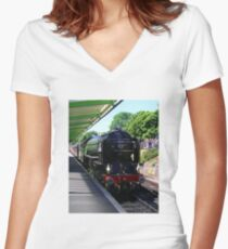 Tornado at Swanage Women's Fitted V-Neck T-Shirt