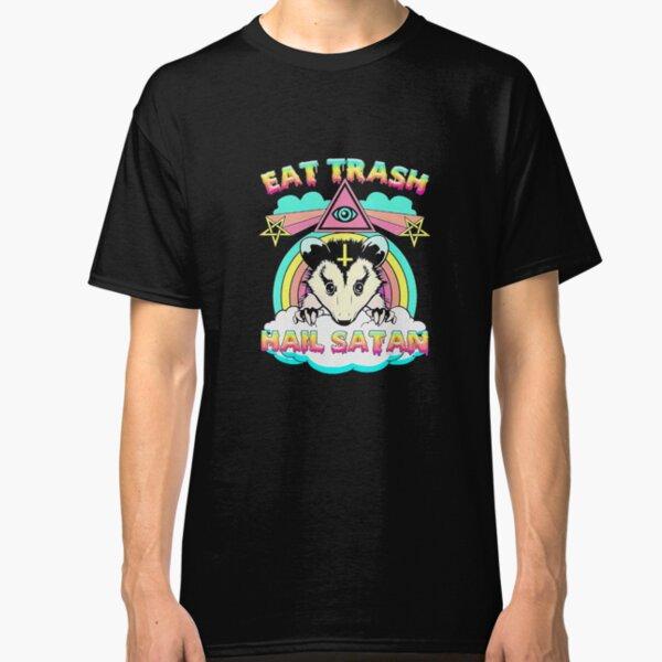 Eat Trash Hail Satan Raccoon Pentagram Satanic Garbage Gang Classic T-Shirt
