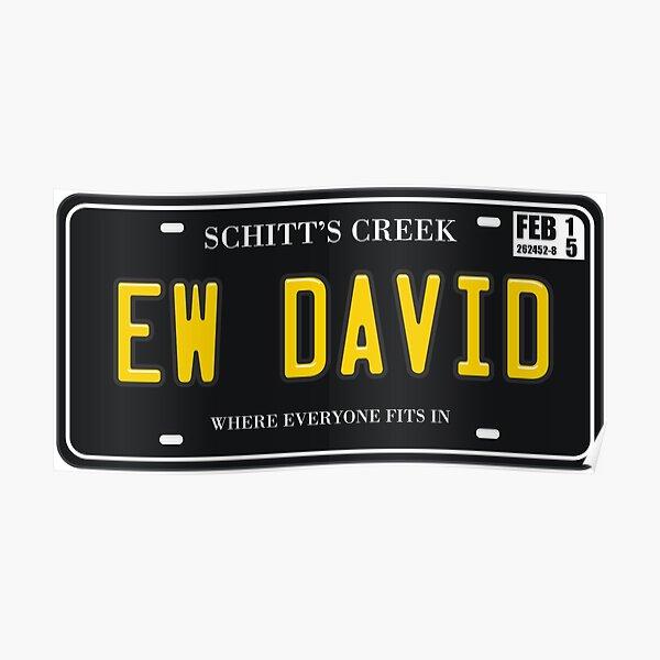 Ew David License Plate Poster