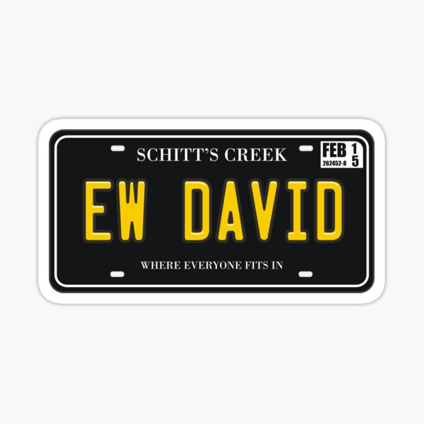 Ew David License Plate Sticker