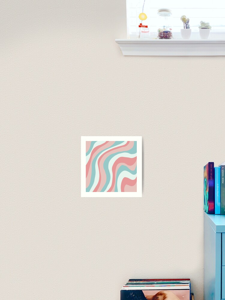 Aesthetic Wallpaper With Color Lines Art Print By Pastel Paletted Redbubble