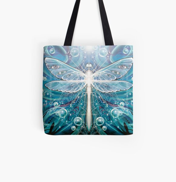 Dragonfly Dreaming All Over Print Tote Bag
