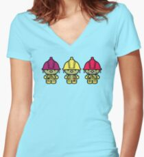 Chibi-Fi Doozers Women's Fitted V-Neck T-Shirt