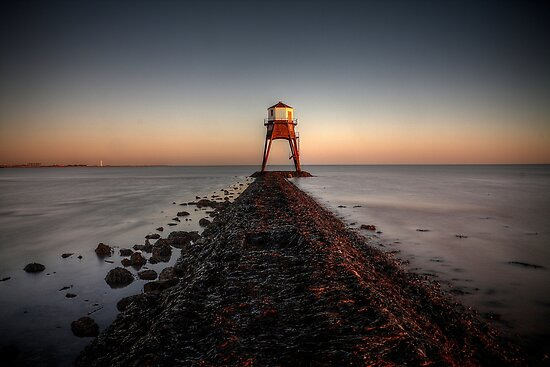 Sunset At The Beach, Dovercourt: 2 by Mat Robinson