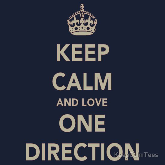 TShirtGifter presents: Keep Calm And Love One Direction