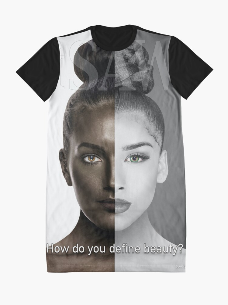 Alternate view of How Do You Define Beauty Graphic T-Shirt Dress