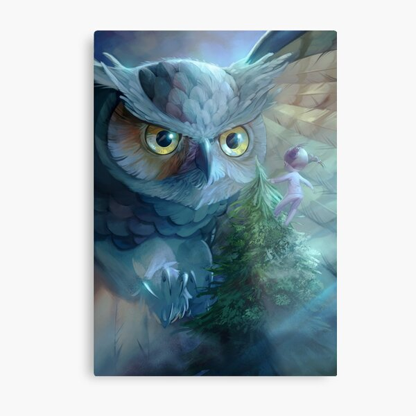 Encounter with the Owl Lámina metálica