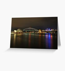Sydney Harbour at Night Greeting Card