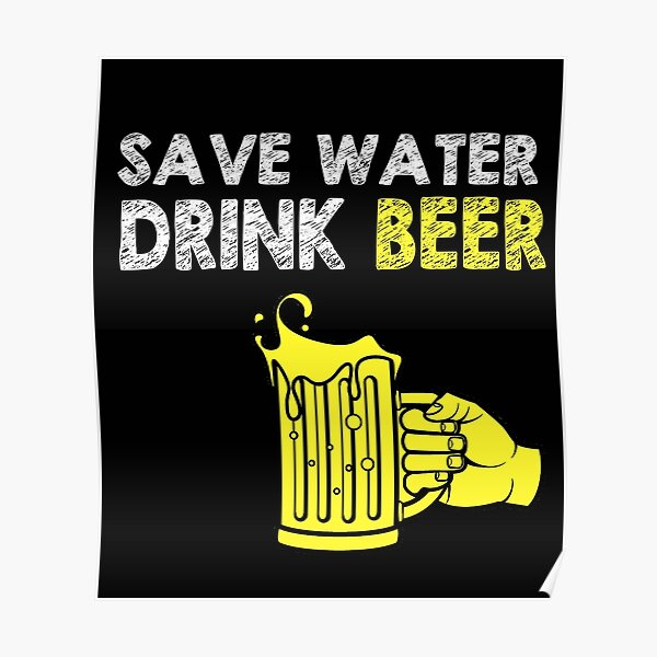 Save Water Drink Gin Sports Boisson Bouteille Camping fiole-Drôle Blague