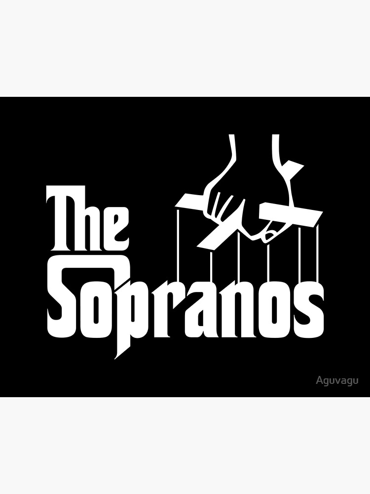 The Sopranos Logo (The Godfather mashup) (White) by Aguvagu