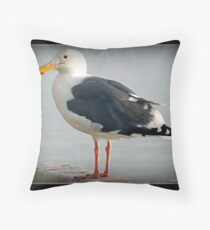 The Sea Gull By The Bay Throw Pillow