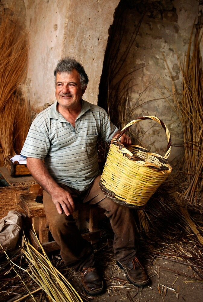 The basketmaker from Volax by Hercules Milas