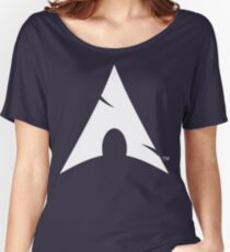 Big-A Arch Linux White Women's Relaxed Fit T-Shirt