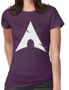 Big-A Arch Linux White Womens Fitted T-Shirt
