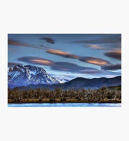 UFOs over the mountains Photographic Print