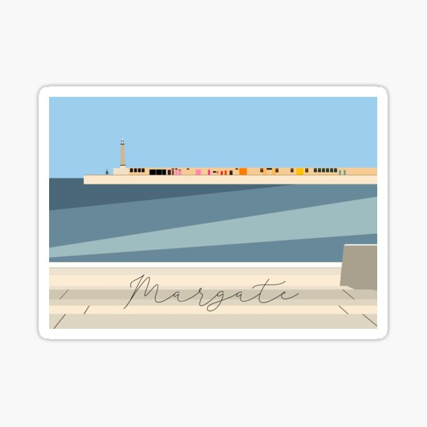 Margate Harbour Pier Sticker