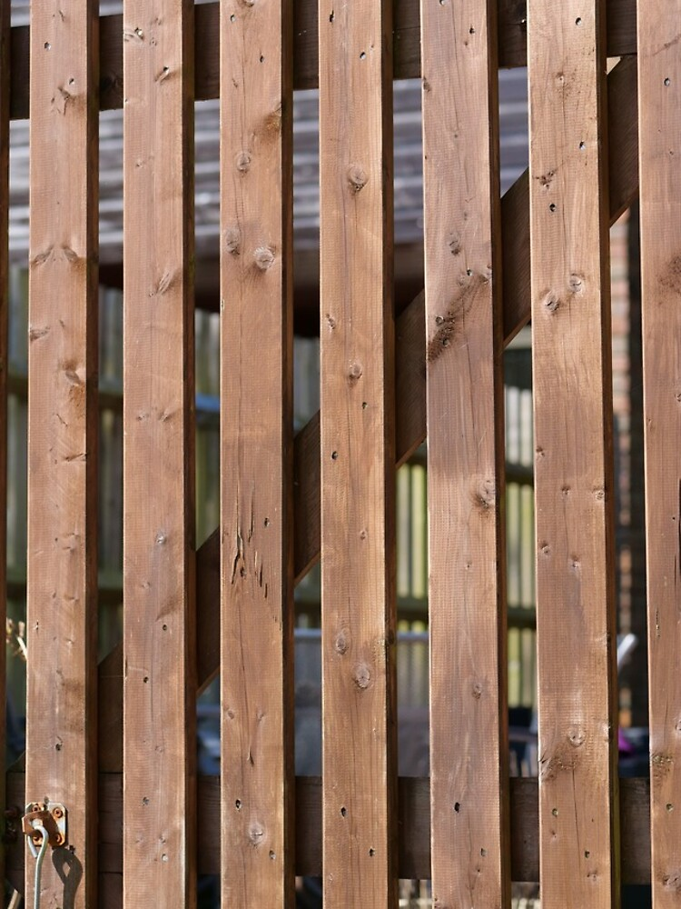 Brown coloured garden fence by santoshputhran