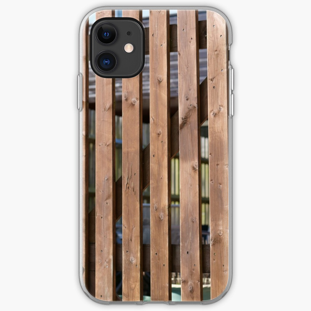 Brown coloured garden fence iPhone Case & Cover